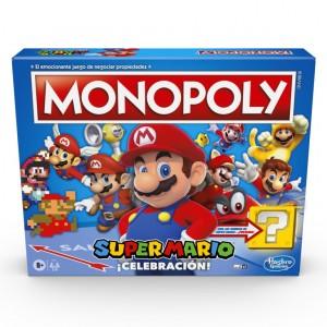 Monopoly Super Mario ¡Celebración! - Juego De Mesa Para Fans De Super Mario con sonidos Del Videojuego
